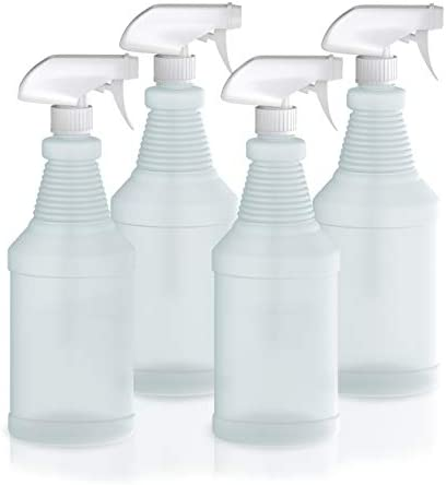 Plastic Spray Bottles with Sprayers 32 oz Empty Spray Bottles for Cleaning Solutions Plant Watering product image