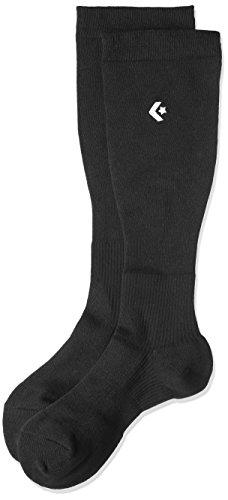 [コンバース] バスケ 靴下 試合/練習用 サポート機能付き 抗菌 防臭 ソックス 着圧ハイソックス CB101001 メンズ ブラック 2325