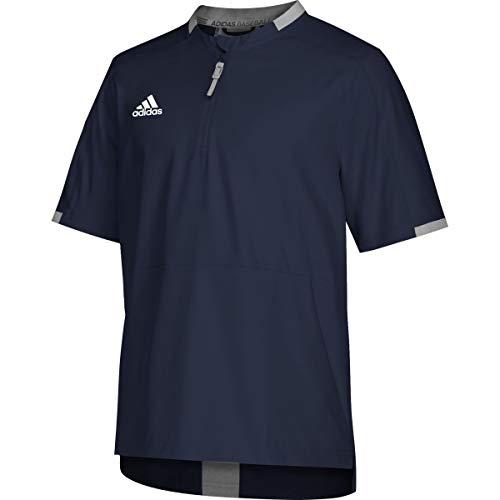 adidas Men's Fielders Choice 2.0 Short Sleeve Baseball Cage Jacket Navy L