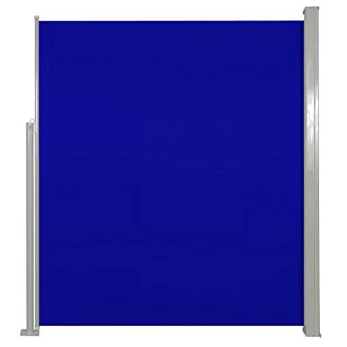 vidaXL Patio Terraza Toldo Lateral 160 x 300 cm Azul