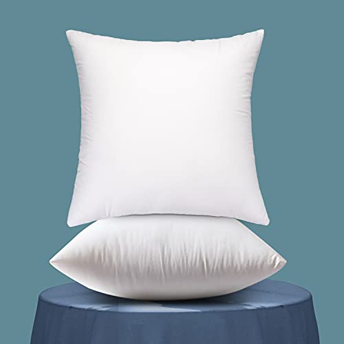 Emolli Throw Pillow Inserts Set of 2, Throw Pillow Inserts Premium Stuffer Down Alternative,Super Soft Microfiber Filled Decorative Pillow Cushion, 18 x 18 Inches