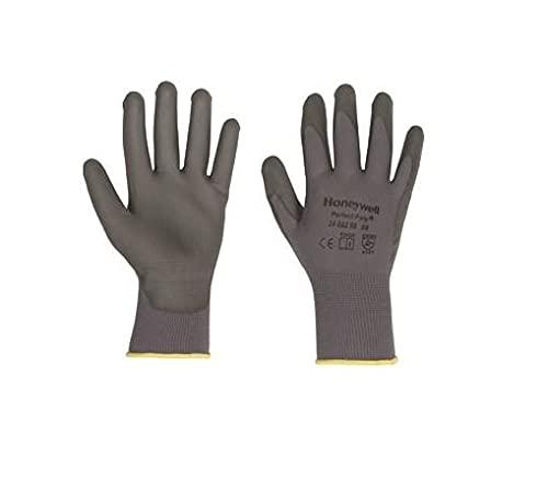 Honeywell 2400250-10 Gants de Manutention Perfect Poly Grey, Manipulation Fine en Milieu Sec, EN 388 4121 - Taille 10 (Pack de 10 paires)