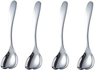 Cute Spoon, Stainless Steel Coffee Spoon, Dessert Tea Appetizer Bistro Cake Ice Cream Sugar Spoons (love)