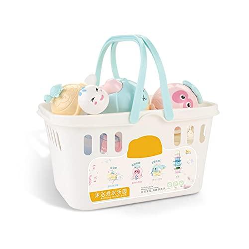 vincente Juguetes de baño de bebé, ducha y apilamiento tazas juguetes para niños pequeños flotando viento hasta juguetes de baño, juguetes de agua para 1 2 3+ niños mayores niñas