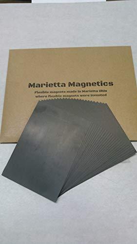 50 Pack Plain 5 X 7 Magnetic Sheets, 20 mil Marietta Magnetics Brand