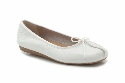 Clarks Freckle Ice 20354455 - Bailarinas para mujer, Blanco, 42