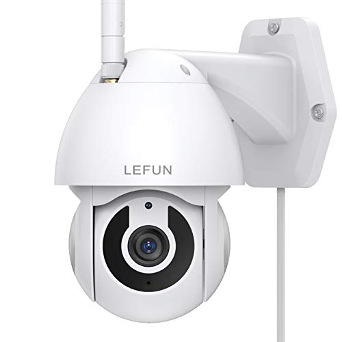 Security Camera Outdoor, Lefun Pan/Tilt 2.4G WiFi Wireless Home Surveillance Camera, 1080P IP Camera with Waterproof Night Vision 2-Way Audio Motion Detection Cloud Service, Compatible with Alexa
