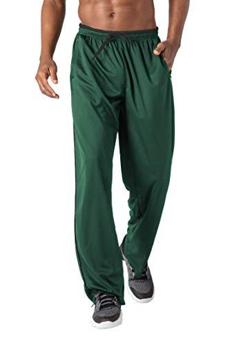Jogging Pants Men Summer Pants Workout Pants Loose Fit Jersey Pants Bodybuilding Pants for Men Baggy Gym Pants Men Dry Fit Mesh Pants Green