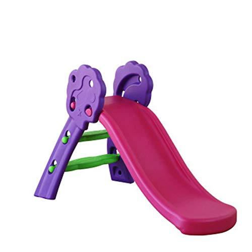 OMGPFR Tobogán Exterior Interior para niños, Toboganes Independientes de jardín Fácil Montaje Durable Estable para Niños pequeños Hogar Niños de 18 Meses a 6 años Pequeño Sencillo,Púrpura