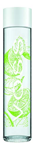 VOSS Artesian Sparkling Water, Lime Mint, 375 ml Glass Bottles (Pack of 12)