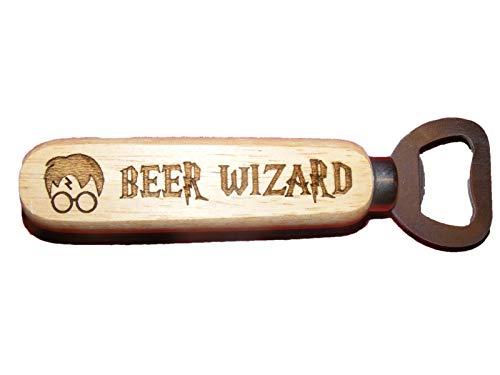 FastCraft Flaschenöffner mit Harry Potter-inspiriertem Bier-Wizard aus Holz
