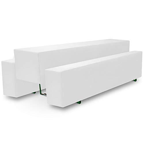 Beautissu Basic M Bierbank-Hussen & Biertisch-Husse 3 TLG. Set für 70cm breite Festzeltgarnitur Bierzeltgarnitur Weiß & weitere Farben