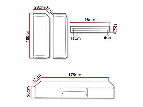 Wohnwand mit Hängeschränken, TV-Lowboard & Regal kaufen  Bild 1*