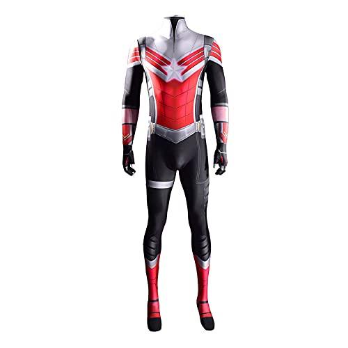 XNheadPS Falcon And Winter Soldier Captain America Costume Fancy Dress Suit Halloween Cosplay Tuta Bambini Show Tight Set Lycra Zentai Superhero Body,Black- Adult L165~170cm