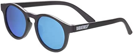 Babiators Blue Series Polarized Baby Toddler Kids Sunglasses Black Keyhole Blue Mirror 3 5 Years product image