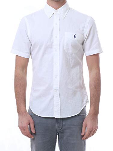 Polo Ralph Lauren Mod. 710744866 Hemd Seersucker Slim Fit Herren Weiß S