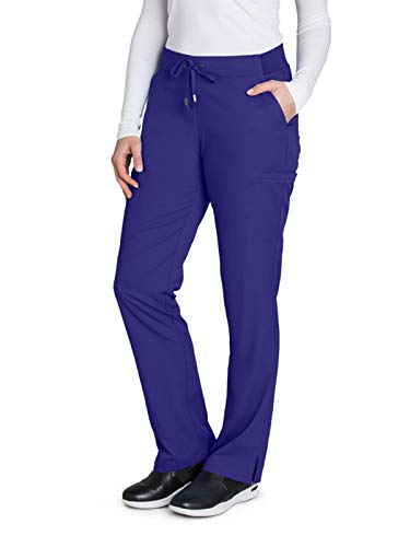 Grey's Anatomy 4277 Women's Straight Leg Scrub Pant Purple Rain L Petite