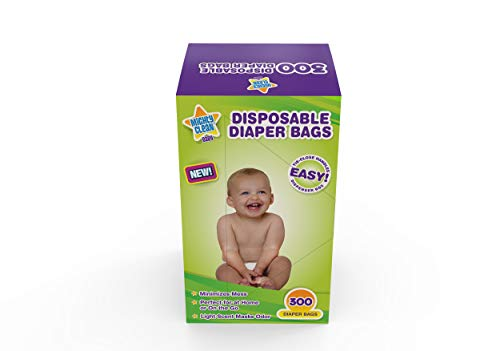 Mighty Clean Baby Disposable Diaper Bags with Light Powder Scent (300 Bags)