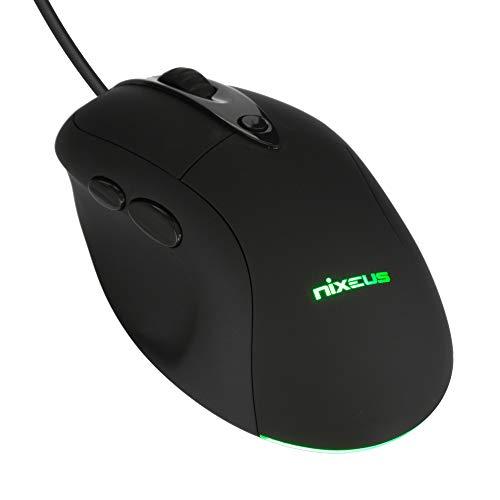 Nixeus Revel FIT Ergonomic Gaming Mouse PMW 3360, Rubberized Black - PC, Mac