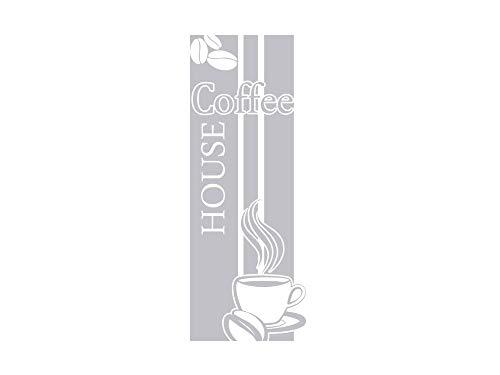 GRAZDesign Fenstertattoo Küche Kaffee, Coffee House mit Tasse, Selbstklebende Fensterfolie Aufkleber für Glastür / 105x40cm