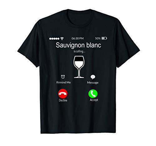 White Wine Lover Sauvignon blanc Calling Adult Phone Costume T-Shirt