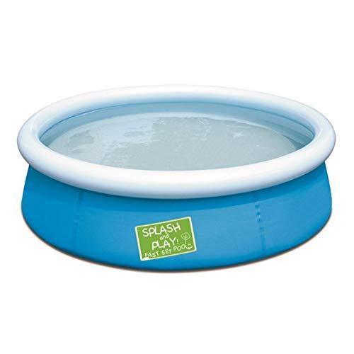 Appoo Aufblasbarer Pool Planschbecken Schwimmzentrum Kunststoff Blau Langlebig Doppelschutz 5ft Runde Familiengroße Lounge-Schwimmbäder für Erwachsene und Kinder für Familienfeiern, 152x38cm