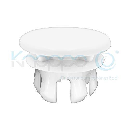 KNOPPO® Waschbecken Überlauf Abdeckung, Überlaufblende - Mirror (weiß)