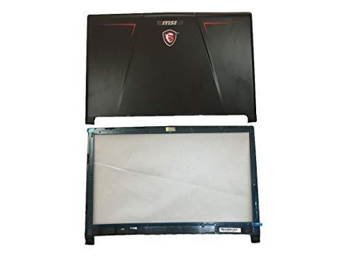 Reemplazo para MSI GE73 GE73VR Laptop LCD LED cubierta trasera cubierta cubierta cubierta trasera carcasa carcasa con marco W-Bisel