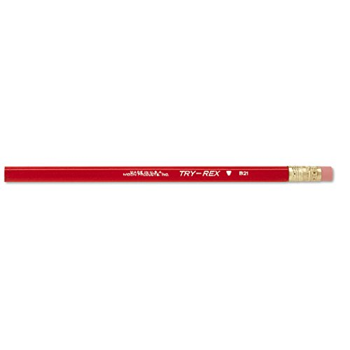 J.R. Moon Pencil JRMB21TBN Pencils Try-Rex Jumbo with Eraser, Grade Kindergarten to 1 Age 2.82' Height, 2.36' Wide, 7.72' Length (Pack of 36)