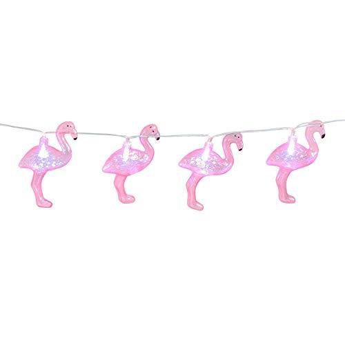 Boland 52545 - LED-Lichterkette Flamingo, Länge 140 cm, Batterietyp 2xAA, Dekoration, Karneval, Mottoparty