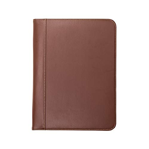 Samsill 71716 Contrast Stitch Leather Padfolio – Lightweight &...