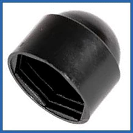 BLACK NUT /& BOLT PLASTIC//NYLON COVER CAP M12 19mm ACROSS FLATS 50 PACK 12mm