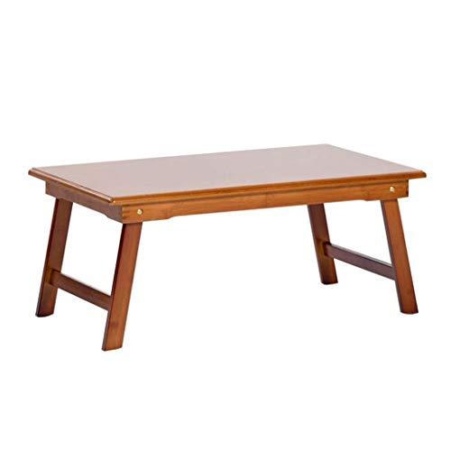 HIGHKAS Klappbarer Kleiner Tisch Laptop Tisch Bett Tisch Student Schlafsaal Studiertisch Schlafzimmer Frühstückstisch (Farbe: Braun, Größe: 70x40x30cm)