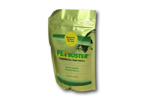 Flybuster, Commercial Refill Packet, Outdoor Living, Non-Toxic Fly Trap, Pest Control Traps, 2-Pack