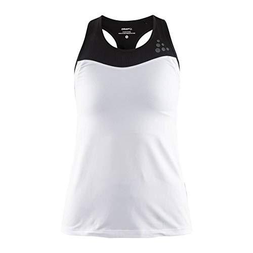 Craft Débardeur Running Femme Shade Singlet Blanc/Noir PE 2019