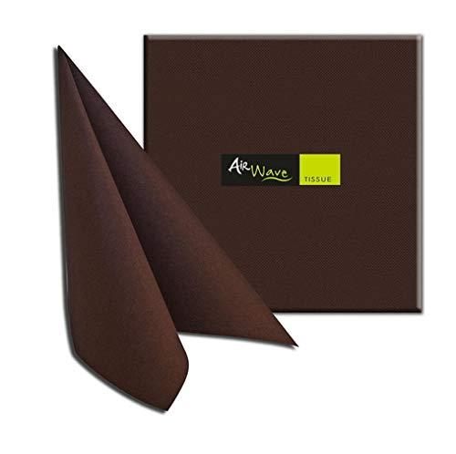 Tovaglioli in TNT Airwave Packservice Color Tissue Cioccolato 40x40 Confezione 1200pz