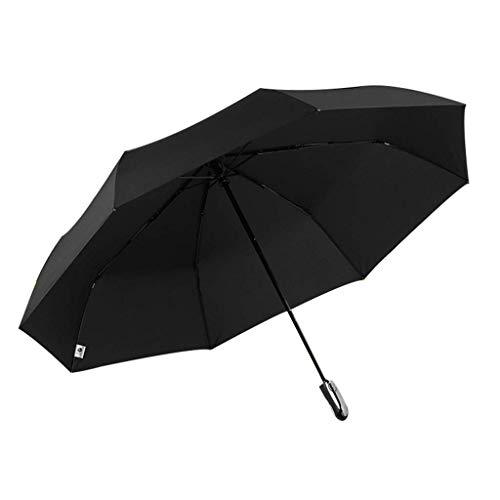 Taschenschirm windundurchlässiger Regenschirm Reise mit Teflon-Beschichtung Anti UV Sport Regenschirme Auto Open 3-fach Regenschirm Fiber Golfschirm Compact Großen faltbare Sonnenschirm-Regenschirm dm