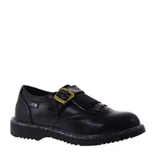 Miss Sixty JR W17 19 MS 275 - Zapatos de Estilo inglés con estrás, Color Negro Negro Size: 36 EU