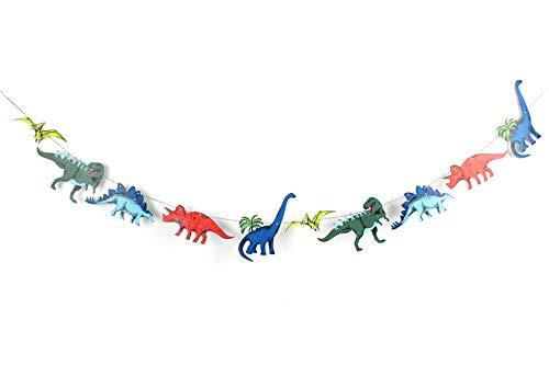Dinosaur Party - Garland | T-rex Wall Decoration | Dinosaur Party Supply | Colorful Dinosaur Bunting