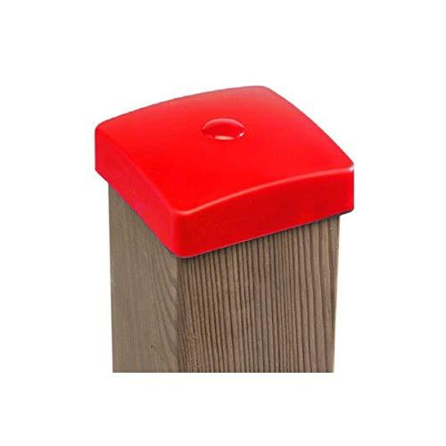 Gartenwelt Riegelsberger Premium PVC Pfostenkappe 90x90 mm ROT Abdeckung für Kantholz 9x9 cm aus Kunststoff