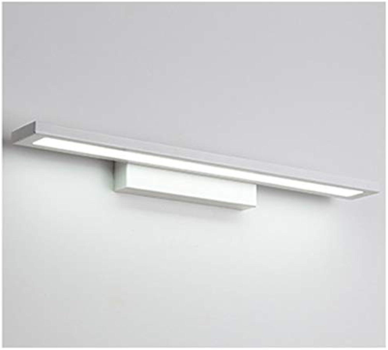 WB_L Spiegellampen Nordische moderne Spiegel-Scheinwerfer, langes geführtes Anti-Nebel-einfaches Badezimmer-Badezimmer-Spiegel-Kabinett-Wandlampe (Farbe   Wei-40 cm)