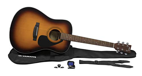Yamaha GigMaker Standard Acoustic Guitar w/ Gig Bag, Tuner, Strap and Picks - Sunburst