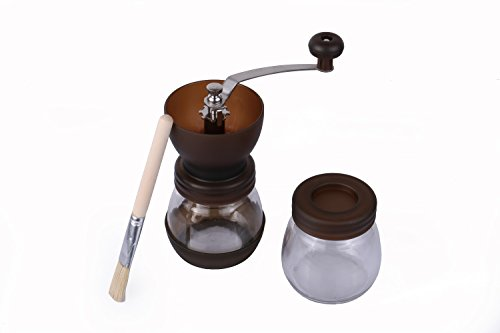 SOULCOOK Manual Coffee Grinder Burr Coffee Grinder -Coffee Maker With Grinder For Espresso - Roasted Coffee Bean Grinder - Burr Grinder Coffee Mill - Best Manual Coffee Grinder (Black)