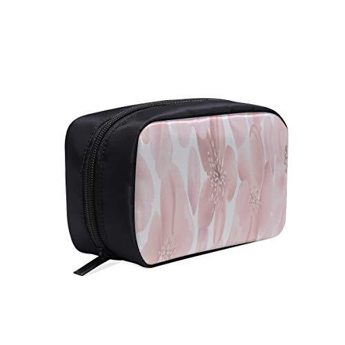 Sac de maquillage pour enfants Glitter Romantique Rose Cherry Blossom Teen Cosmetic Bag Toile Maquillage Sacs Zippé Cosmetic Bag Cosmetic Bags Multifunction Case Toiletries Travel Bag Men