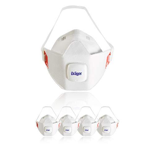 Dräger X-plore® 1930 V 10 Mascarilla de protección respiratoria FFP3, máscaras anti polvo apta para trabajos de construcción, de pintura y químicos