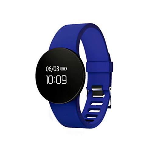 XUANLAN Orologio astuto dell'esposizione di SMS di Chiamata del Monitor di Sonno del pedometro di Calorie di Sport astuto del Braccialetto Impermeabile (Color : Blue)