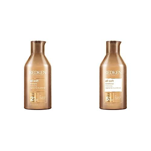 Redken All Soft Shampoo 300Ml + Balsamo 300Ml   Routine Professionale, Dona Idratazione e...