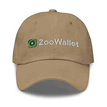 VANN S PRODUCTS LLC ZooWallet Cap Zoo Coin ZooCoin FTM Crypto Embroidered Dad Hat Khaki