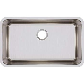 Elkay ELUH281610 Lustertone Classic Single Bowl Undermount Stainless Steel Sink