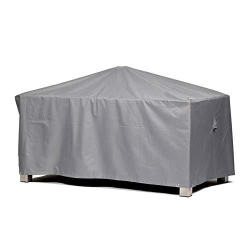 Premium Schutzhülle für Gartentisch rechteckig aus Polyester Oxford 600D - lichtgrau - von 'mehr Garten' - Größe M (155 x 95 cm)